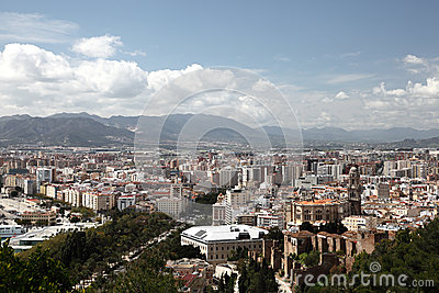 City of Malaga, Andalusia Spain