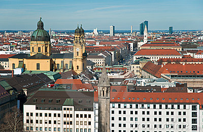 View over the city of Munich