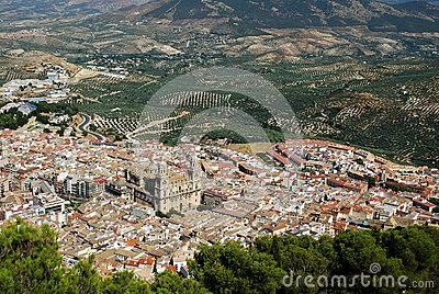 City view, Jaen, Andalusia, Spain.