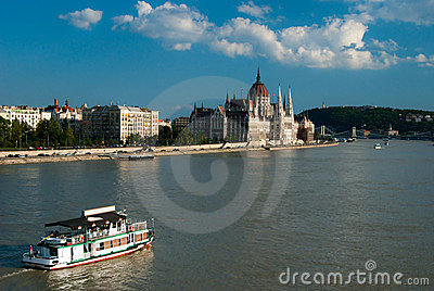 View Over the Danube of Parliament