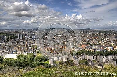 View over Edinburgh