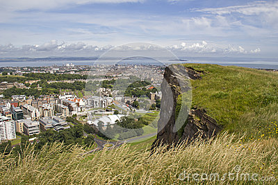 View over Edinburgh