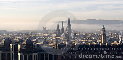 View over Edinburgh, Scotland
