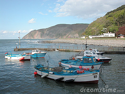 View over harbour at Lynmouth
