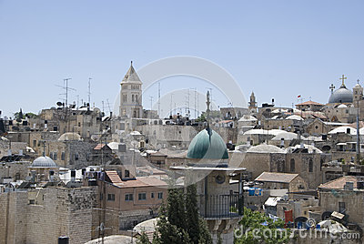 View over historic part of jerusalem, israel