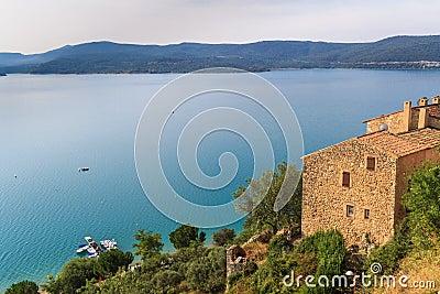View over Lac de Sainte Croix, Verdon, Provence