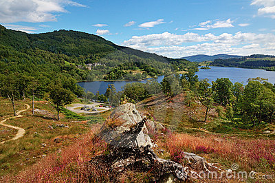 View over Loch Achray, Scotland