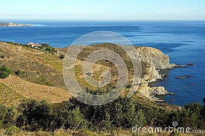 View over a Mediterranean marine reserve
