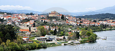 View over Minho river and Tuy (Spain)
