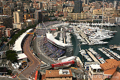 View over Monaco Formula one circuit Editorial Image