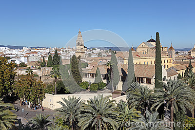 View over the old town of Cordoba