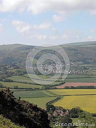 View over Porlock Bay in Exmoor