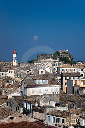 View over the roofs of Corfu s capital Kerkyra