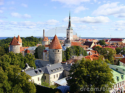 A view over Tallinn, Estonia