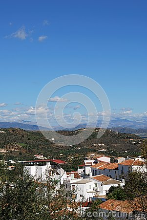 White village, Guaro, Andalusia.