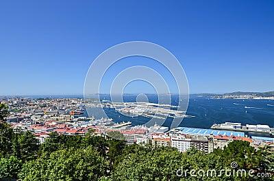 View over Vigo, Spain