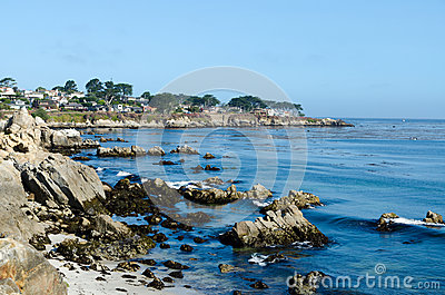 View on Pacific cost in Monterey. California USA.
