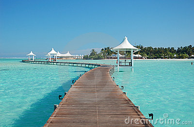 View of paradise island