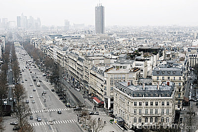 View on Paris, Les Champs Elysees Editorial Photography