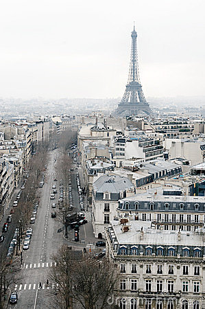 View on Paris, Les Champs Elysees Editorial Stock Image