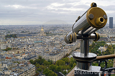 View of Paris and Telescope