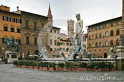 View on Piazza della Signoria in Florence