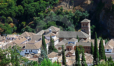 View on picturesque Andalusian town, Granada