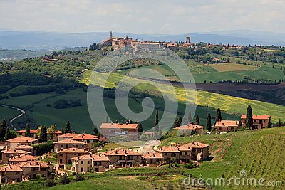 View on the Pienza in Tuscany