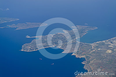 View from the plane - Malta
