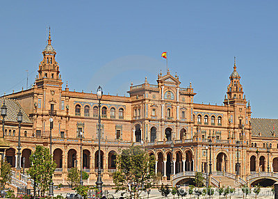 A  view of the Plaza De Espana In seville Spain