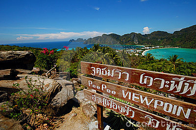 View point of Koh Phi Phi Don