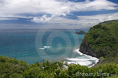 View from Pololu lookout, Big Island, Hawaii
