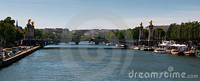 View on the Pont Alexandre III in Paris Editorial Photography
