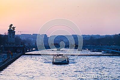 View of pont alexandre iii in Paris