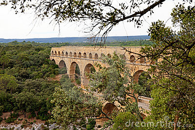 View of Pont Du Gard in France