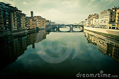 View of ponte vecchio in florence, italy