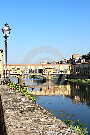 View at the Ponte Vecchio in Florence, Italy