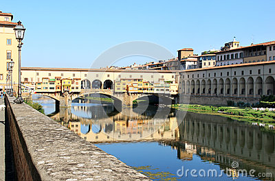 View at the Ponte Vecchio, Florence, Italy
