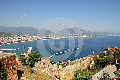 View of the port of Alanya