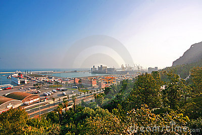 View of port of Barcelona