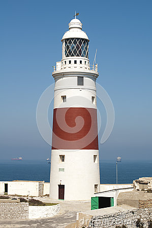 View of the port light of Gibraltar