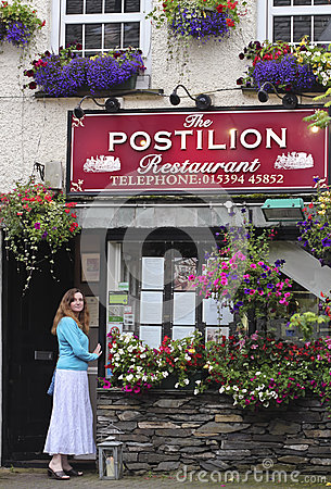 A View of the Postilion Restaurant, Ash Street Editorial Photography