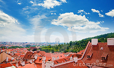 View of Prague city