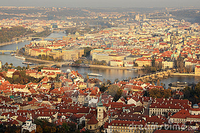 View of Prague in late afternoon