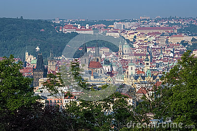 View on Prague from Vitkov Hill