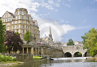 View of the Pulteney Bridge Bath, England
