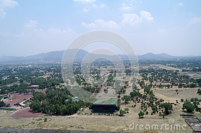 View from the pyramids at Teotihuacan