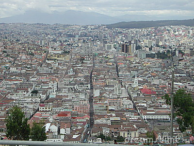 The view of Quito