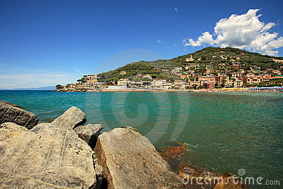 View on Recco - popular touristic resort.