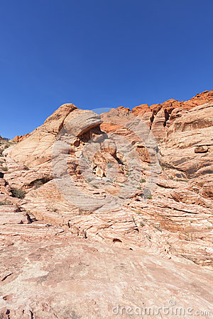 View of Red Rock Canyon in the Mojave Desert.